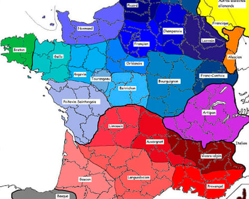 Карта французских диалектов