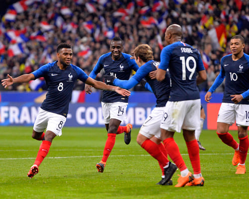 Сборная Франции сборная на матче