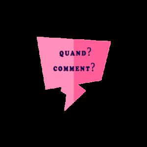 Вопросительные предлоги quand, comment