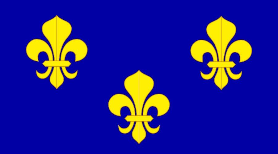 Флаг Франции на синем фоне